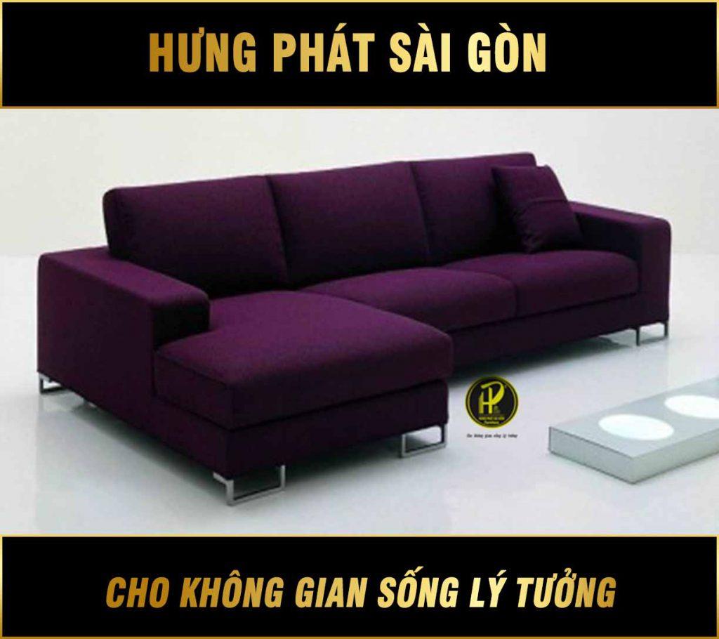 Sofa góc phòng khách đẹp hiện đại H-23