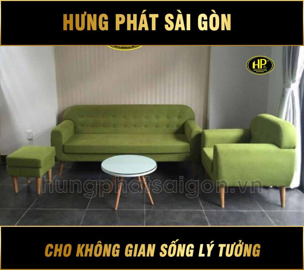 Sofa băng màu xanh hiện đại H-59