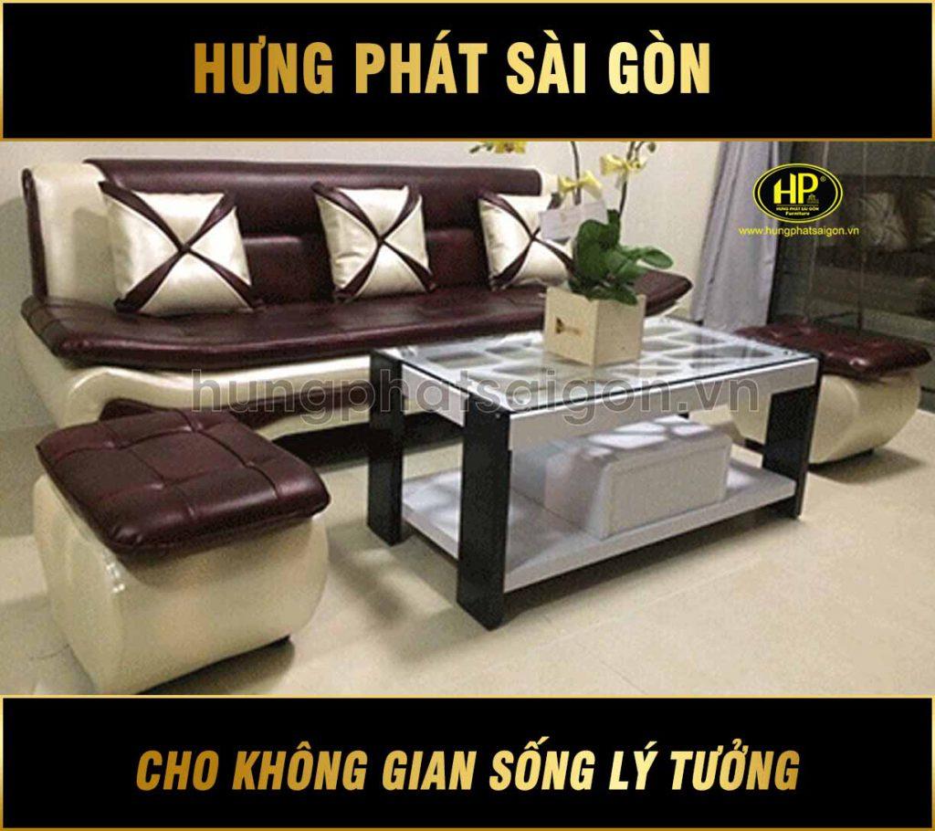 Sofa băng da cao cấp H-211