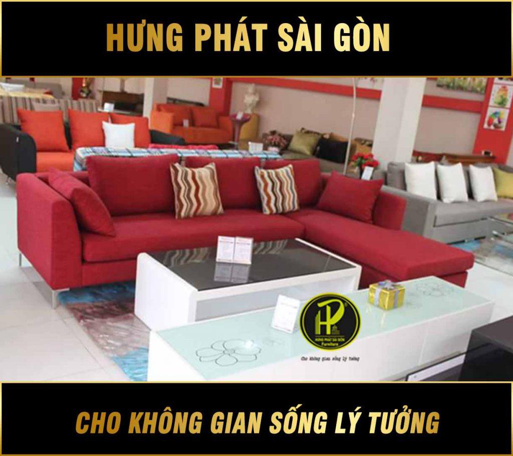 Sofa vải phòng khách sang trọng H-39