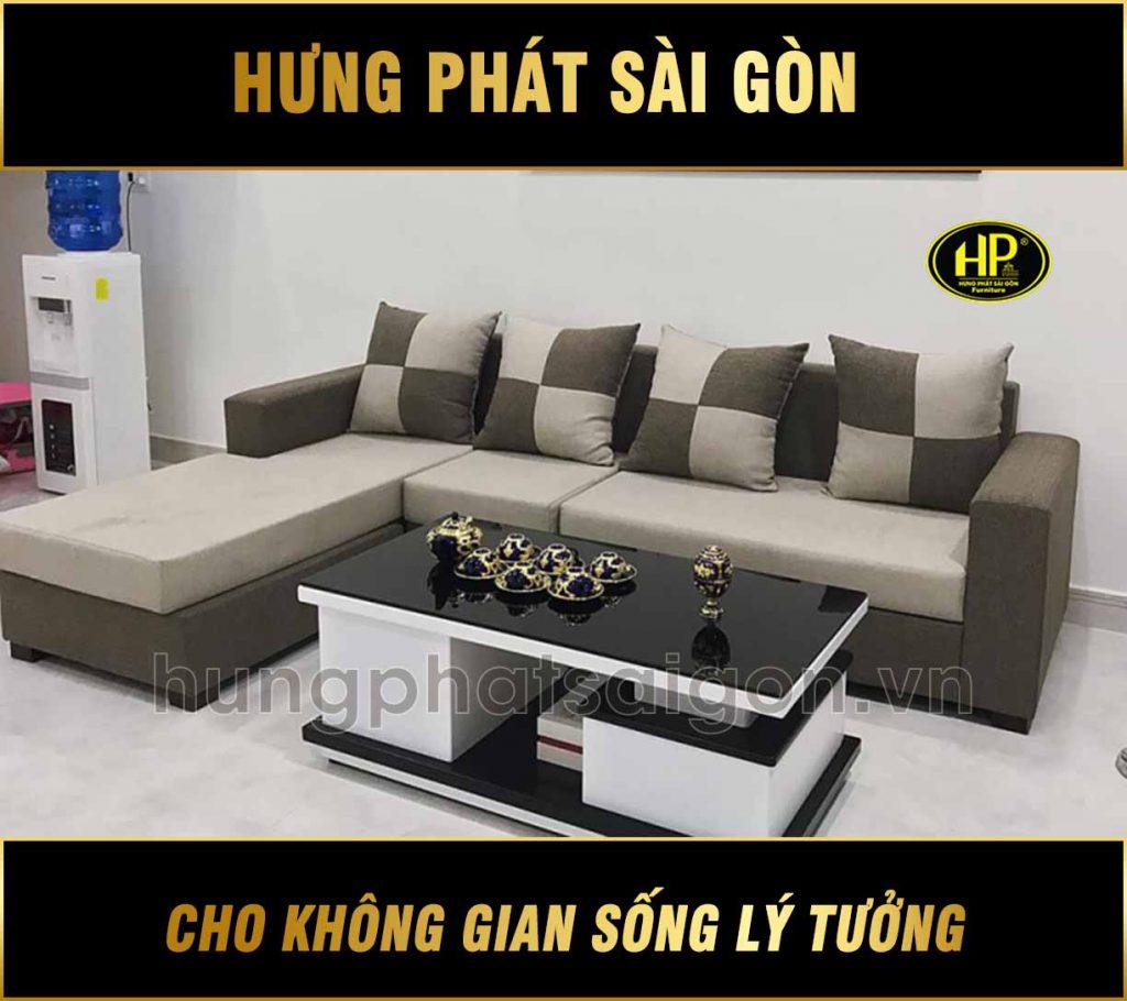 Sofa góc phòng khách hiện đại H-214