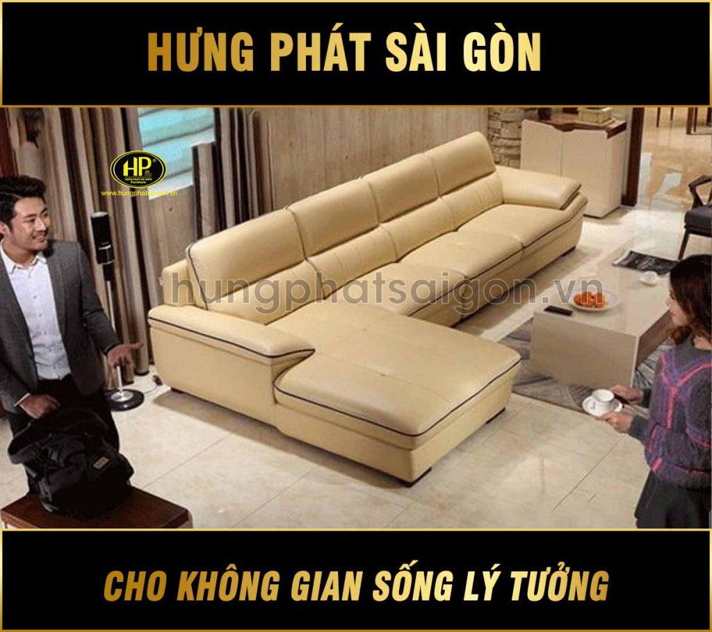 Sofa da căn hộ cao cấp H-225