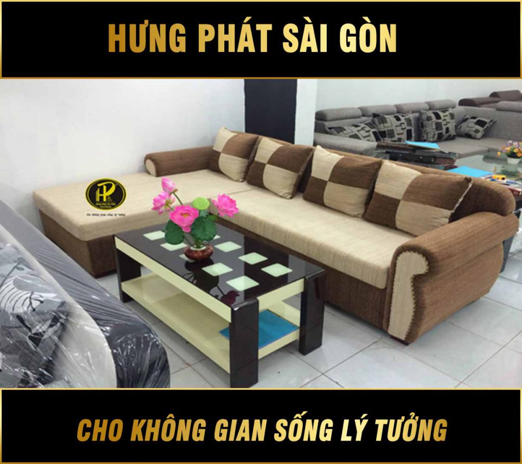 Sofa vải đẹp hiện đại H-33