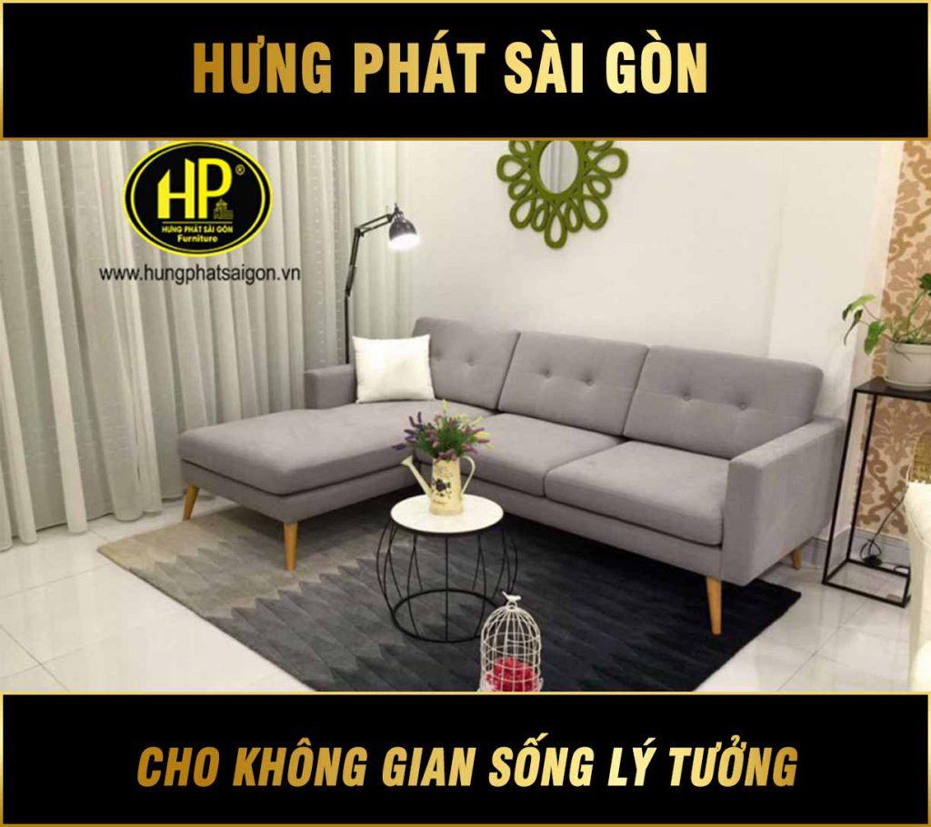 Sofa góc đẹp hiện đại H-242