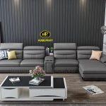 sofa da cao cấp hiện đại cho phòng khách sang trọng đẳng cấp tphcm