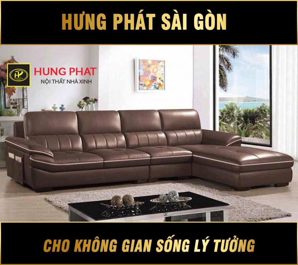 Sofa da sang trọng H-222