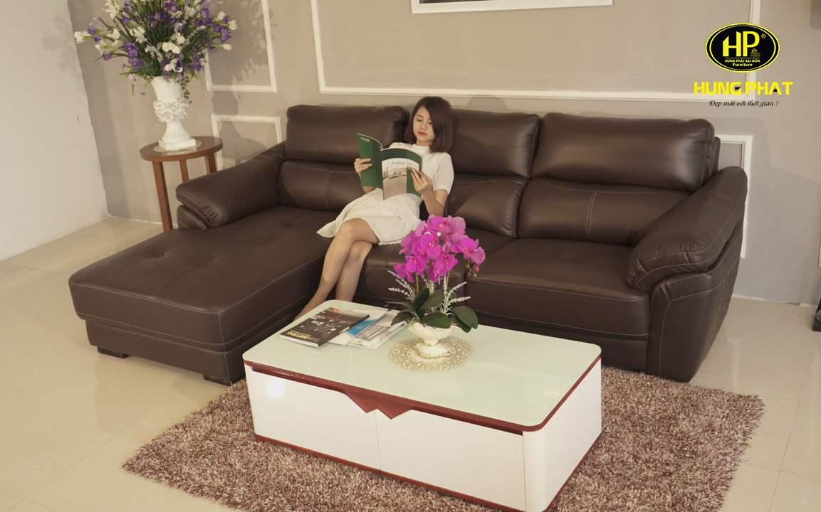 Sofa góc da hiện đại HV-911