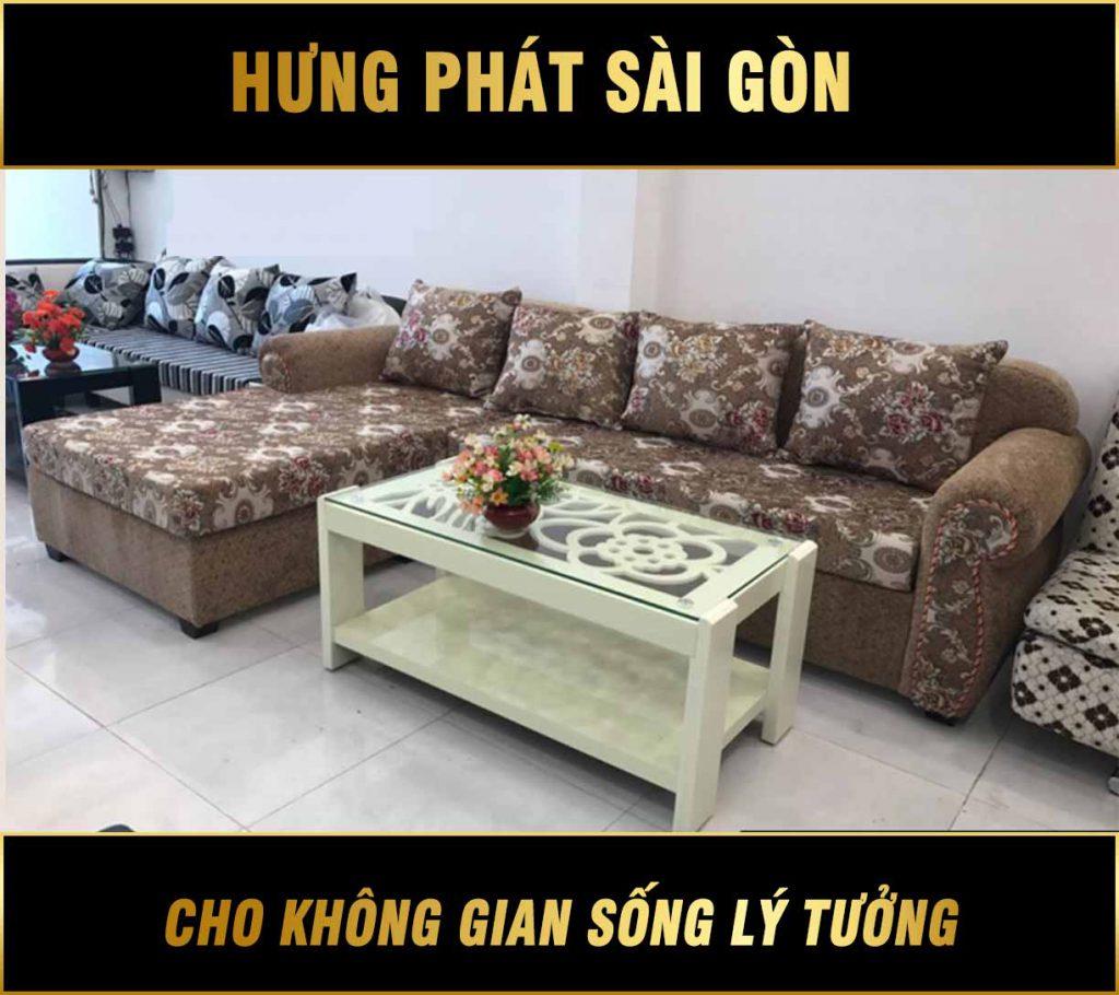 Sofa góc hoa văn cổ điển H-240