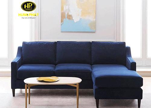 sofa phòng khách màu xanh hiện đại sang trọng