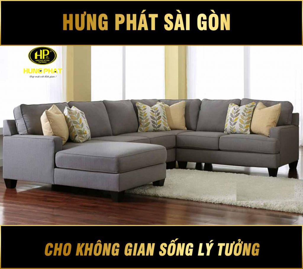 Sofa góc vải chữ U H-281