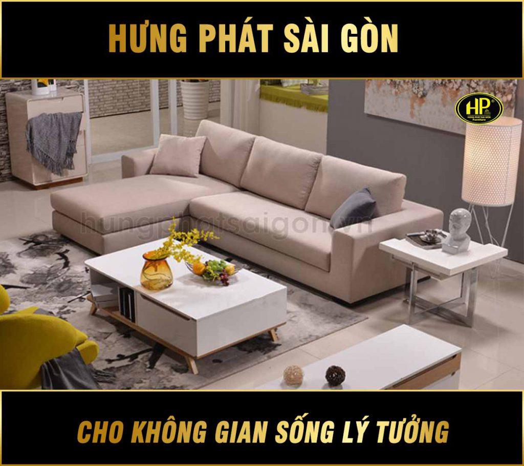 Sofa góc vải phòng khách hiện đại H-256
