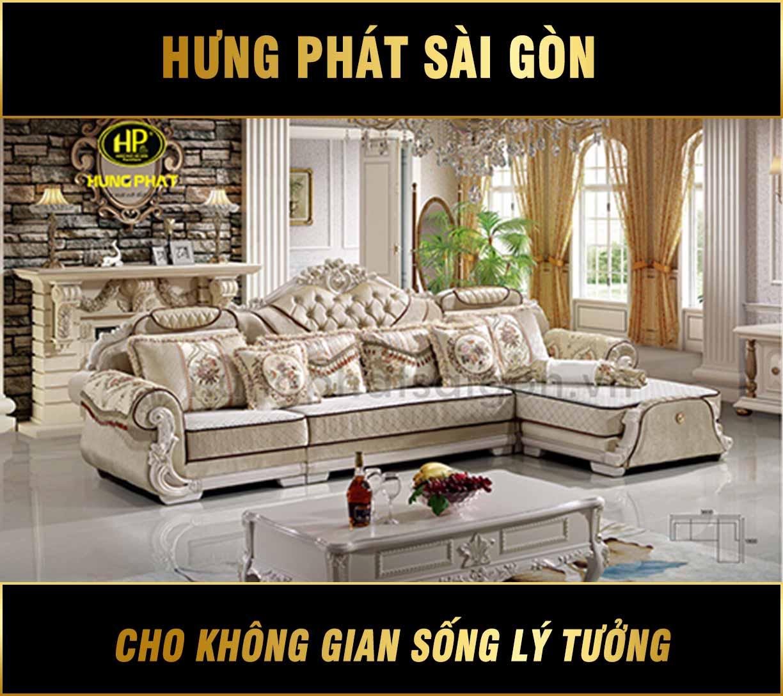 Sofa tân cổ điển nhập khẩu H-1525