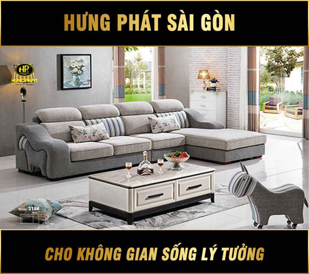 Sofa vải nhập khẩu H-318