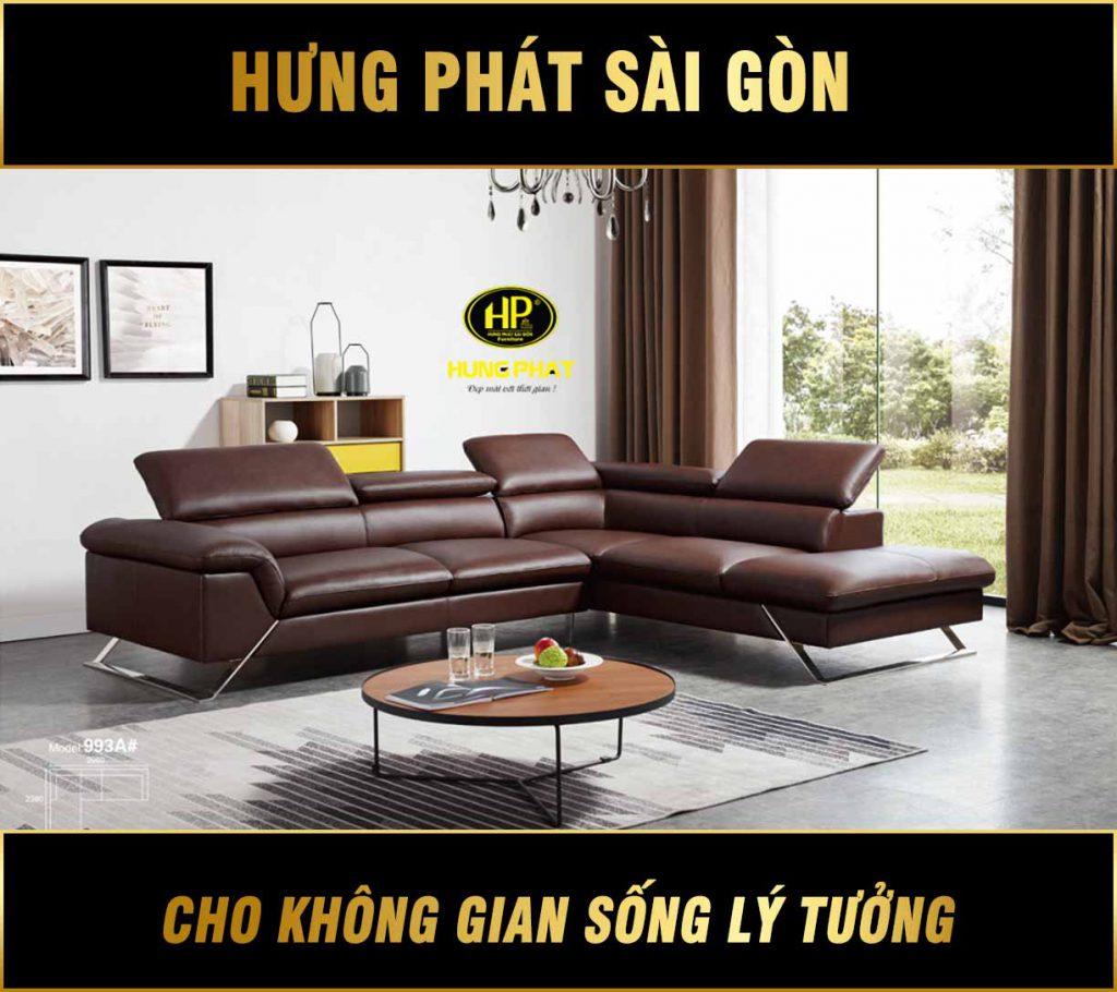 Sofa da bò nhập khẩu H-933A