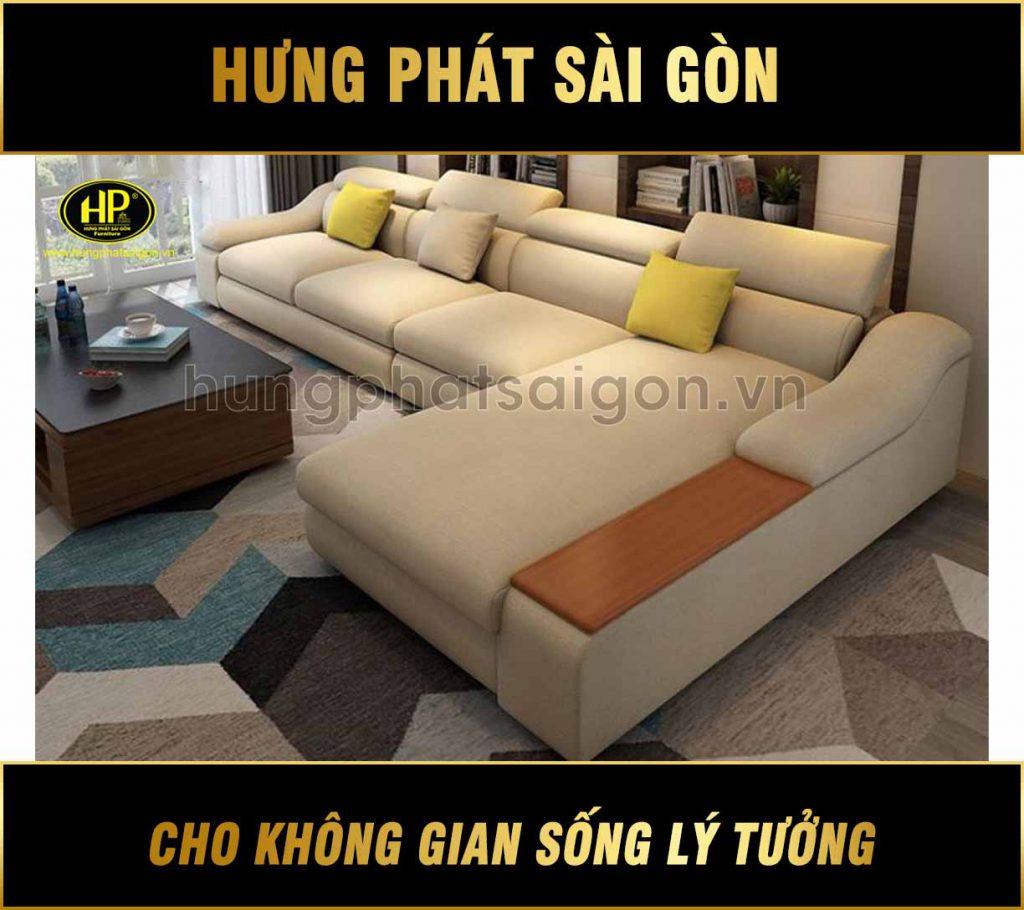 Sofa góc vải cao cấp H-266