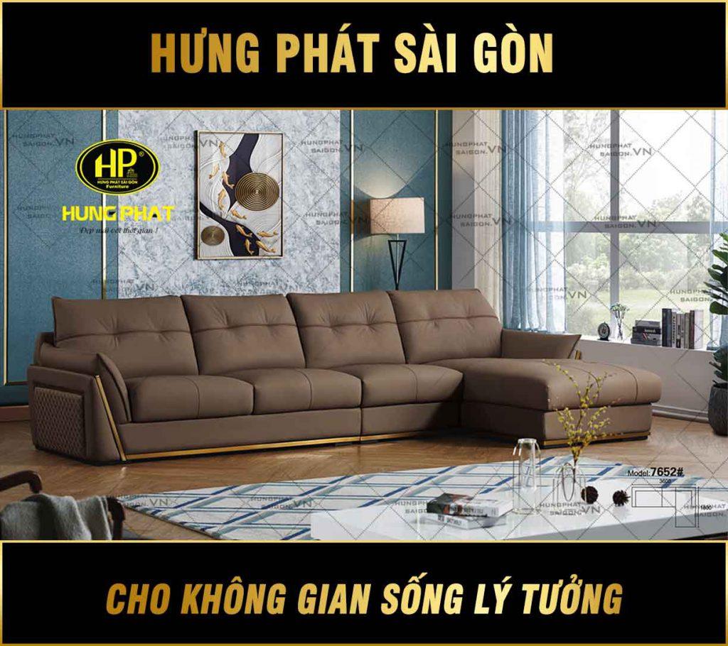 Sofa da bò cao cấp nhập khẩu H-7652
