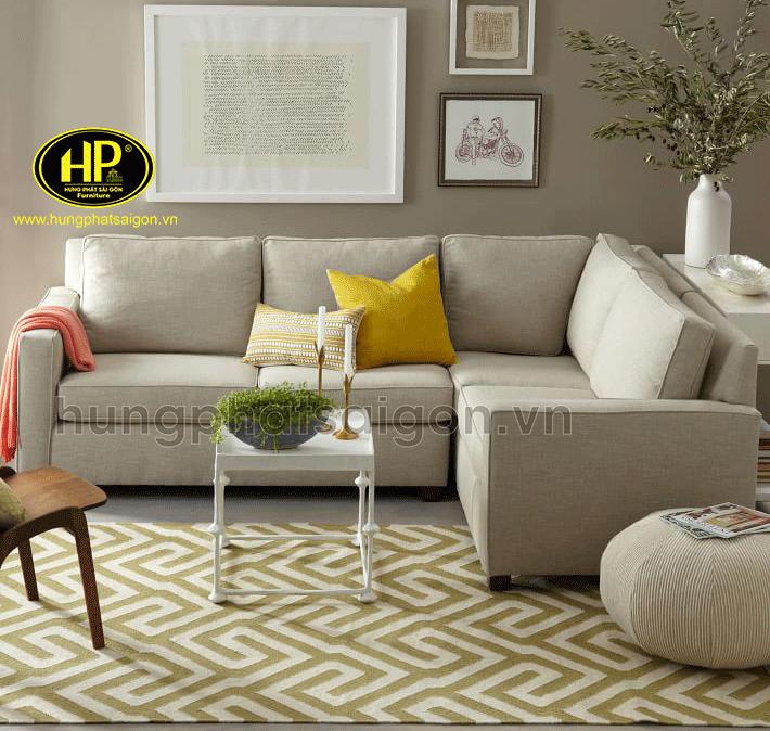 sofa phòng khách hiện đại chất liệu vải