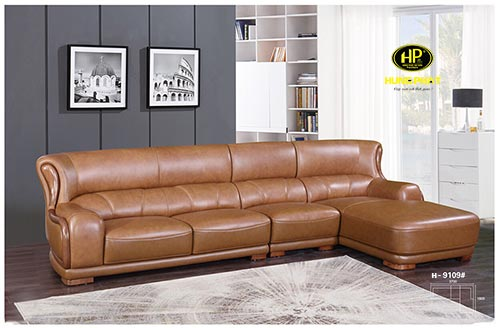 sofa da phòng khách cao cấp H-0109