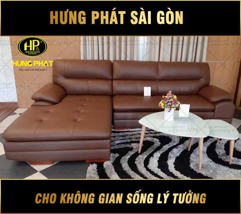 Sofa da nhập khẩu mã HBD-421