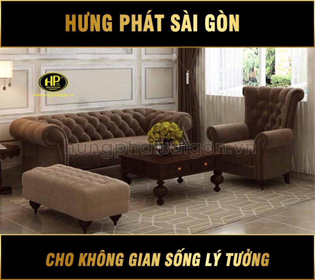 sofa tân cổ điển trọn bộ giá rẻ sang trọng
