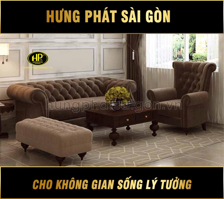 Sofa tân cổ điển trọn bộ H-112