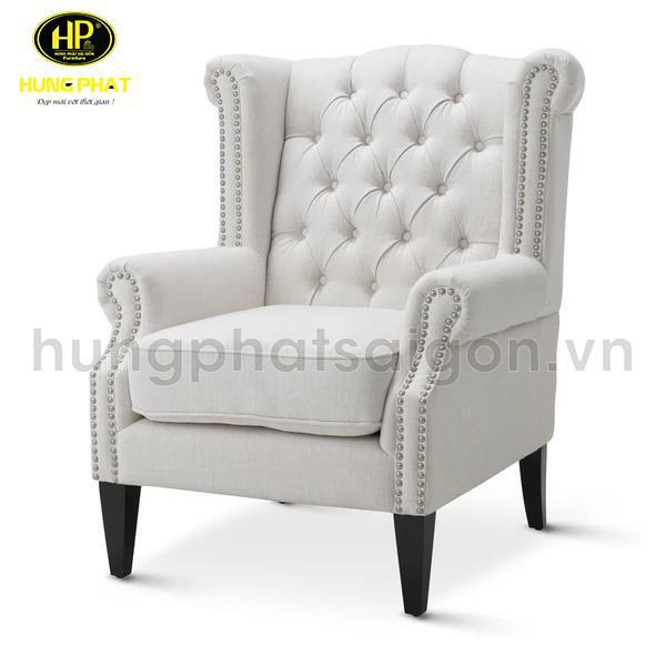 ghế sofa đơn màu trắng hiện đại