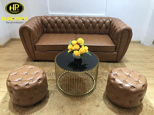 Sofa băng da H-200