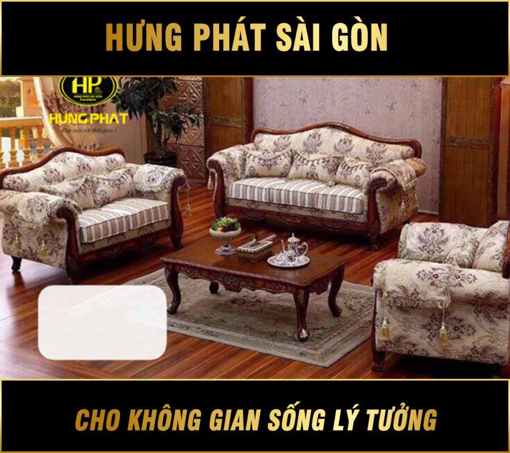 Sofa vải tân cổ điển H-3077A