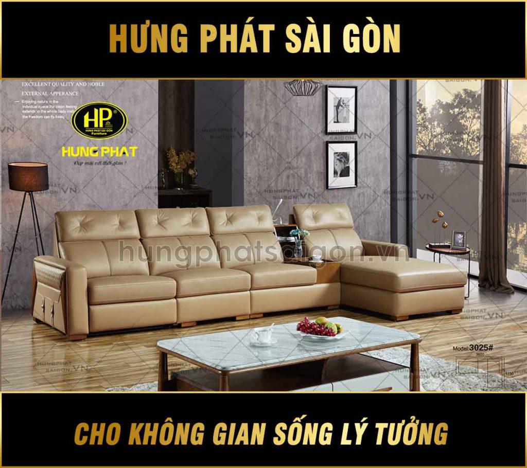 Sofa da bò thư giãn nhập khẩu H-3025