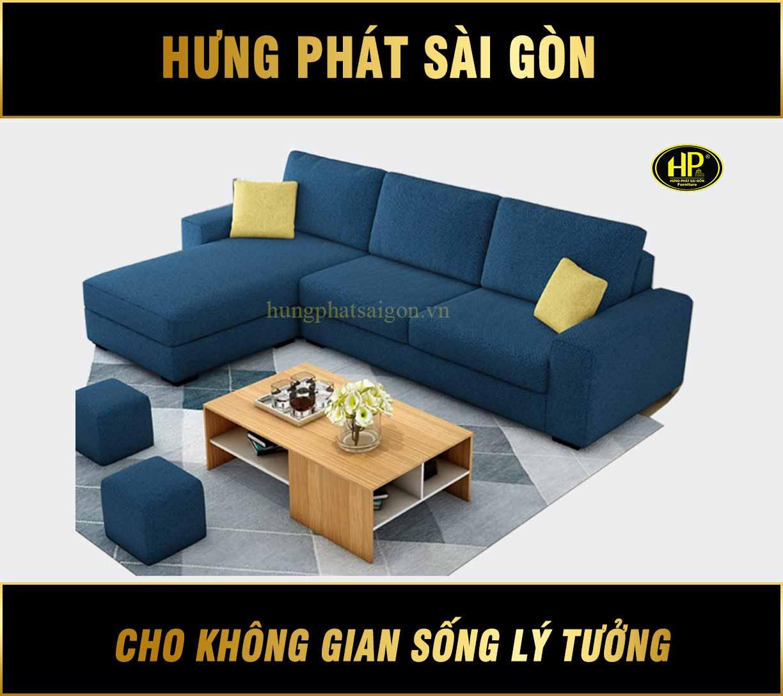 Sofa góc phòng khách đẹp H-260