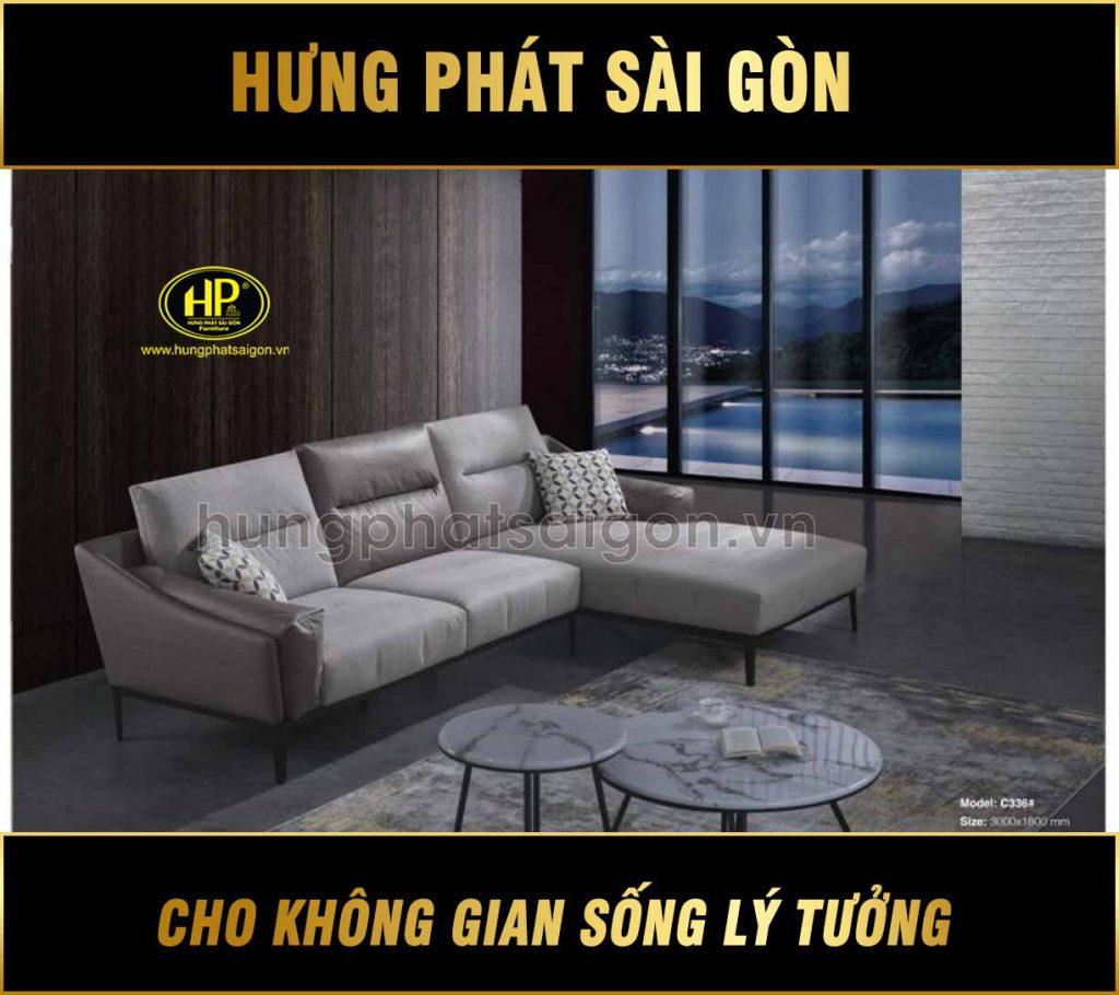 Sofa cao cấp vải giả da C-336