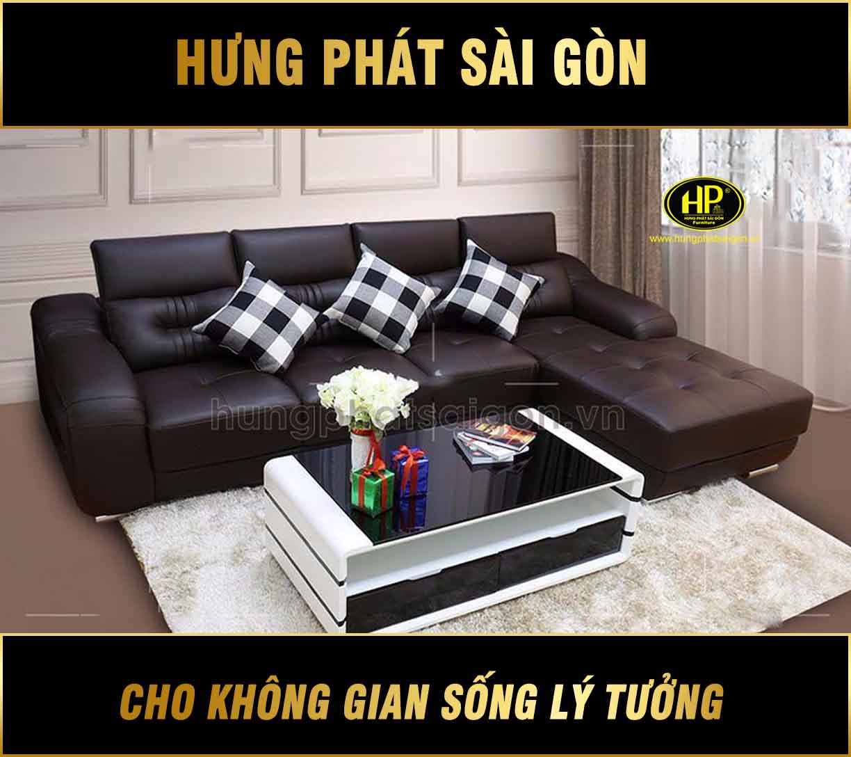 Sofa da sang trọng H-391