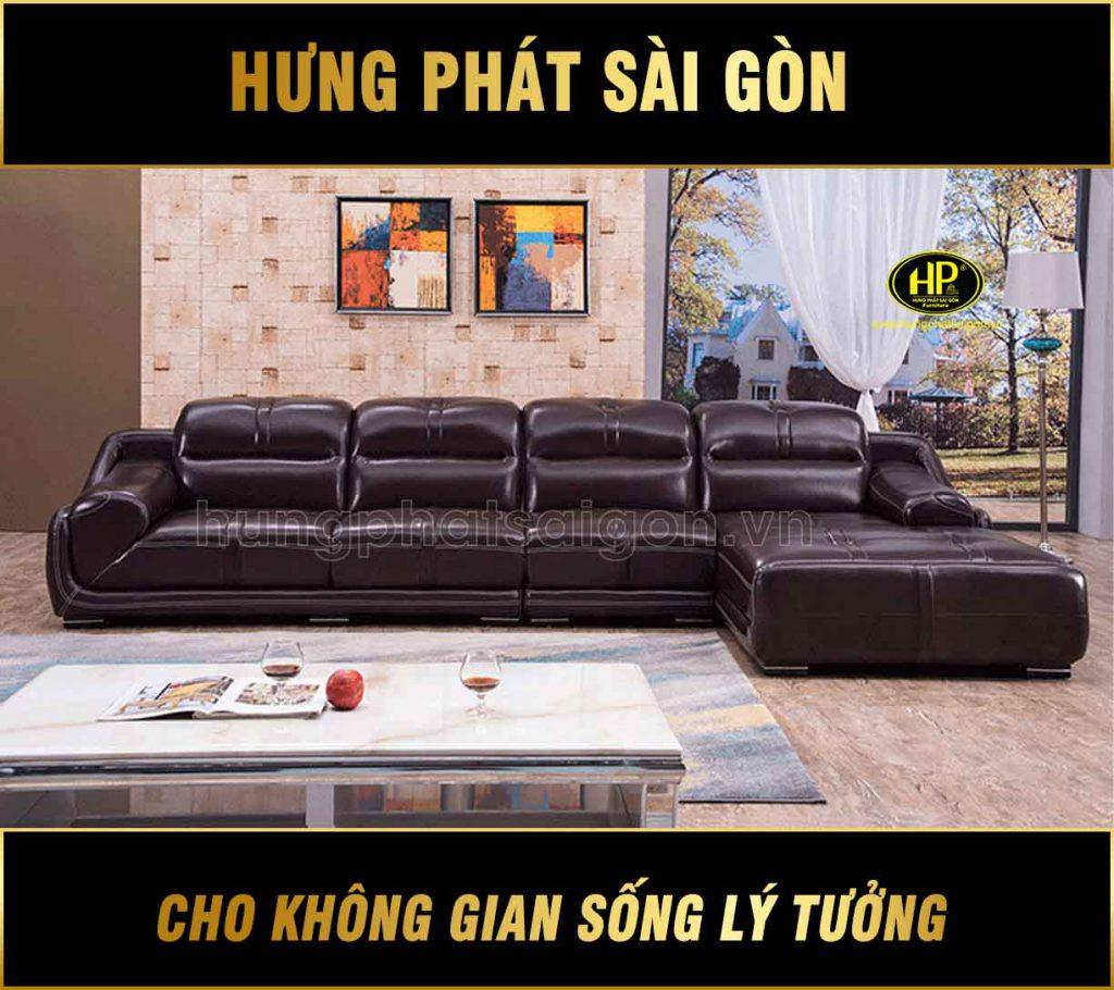 Sofa da sang trọng cao cấp H-2420