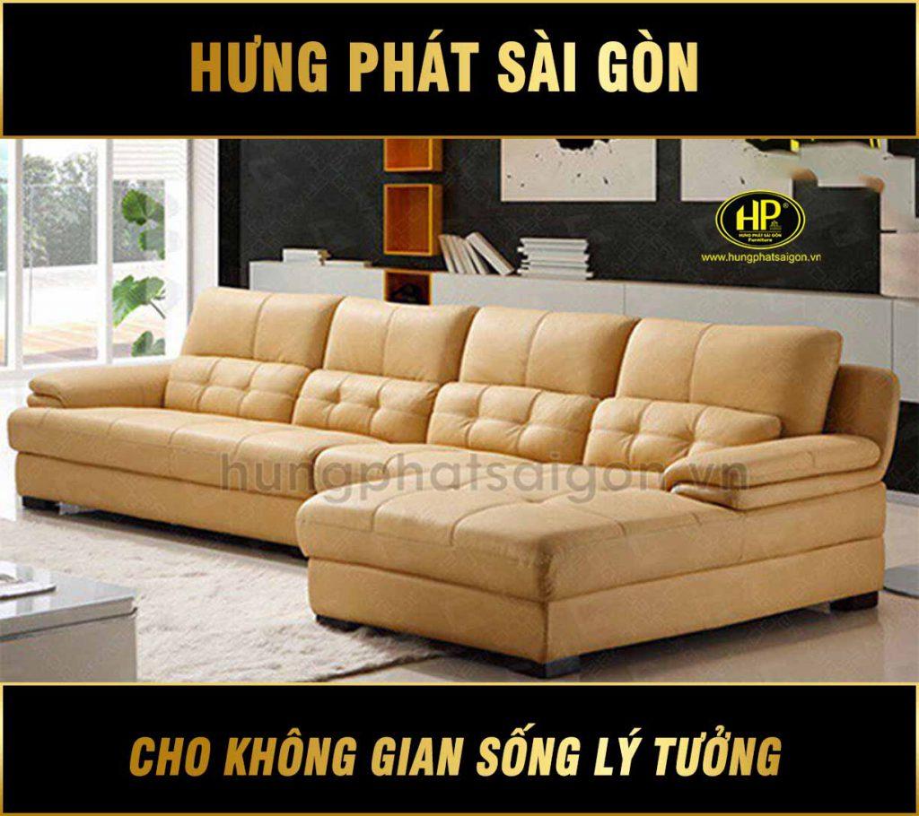 Sofa da sang trọng cao cấp H-432