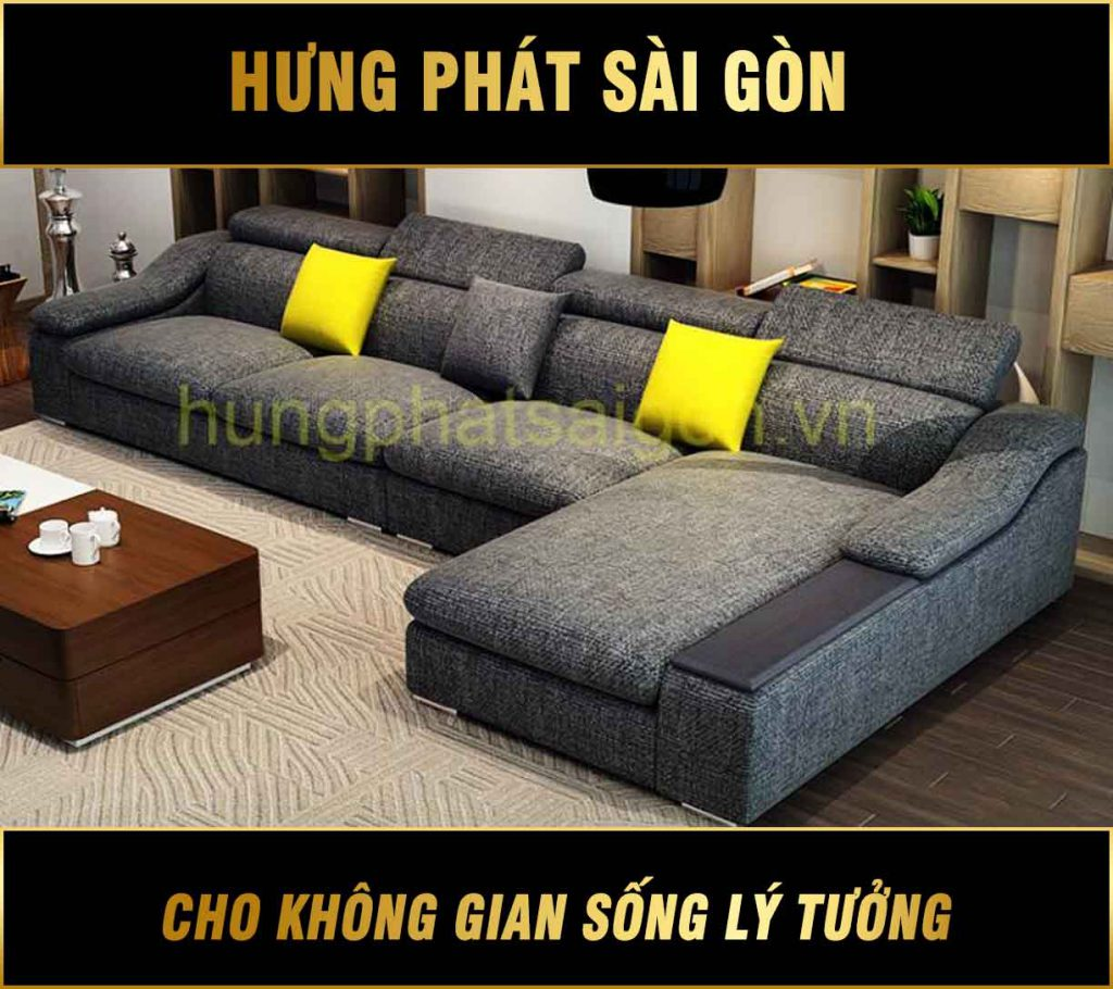 Sofa vải mẫu mới hiện đại H-276