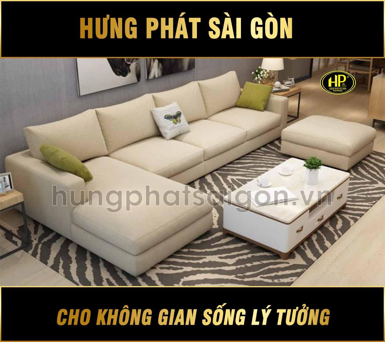 Sofa góc phòng khách sang trọng H-257