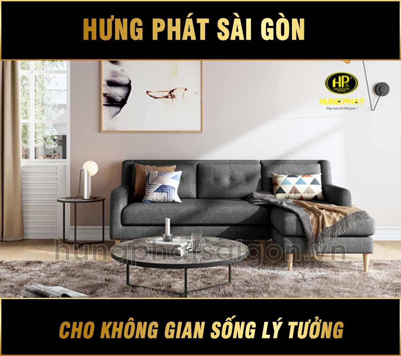 Sofa góc vải hiện đại H-1120