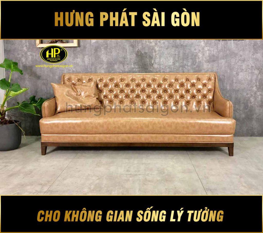 Sofa băng da đẹp H-186 hungphatsaigon
