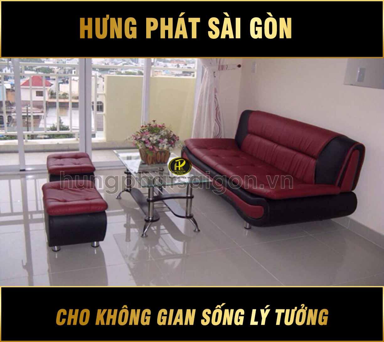 Sofa băng giá rẻ H-51 (Băng thuyền đỏ đen)