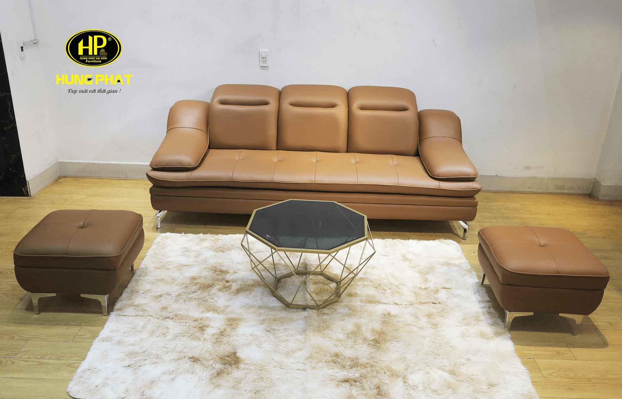 ghế sofa băng da cao cấp mã HBD-01A