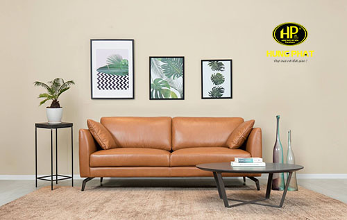 Sofa băng bọc da H-187