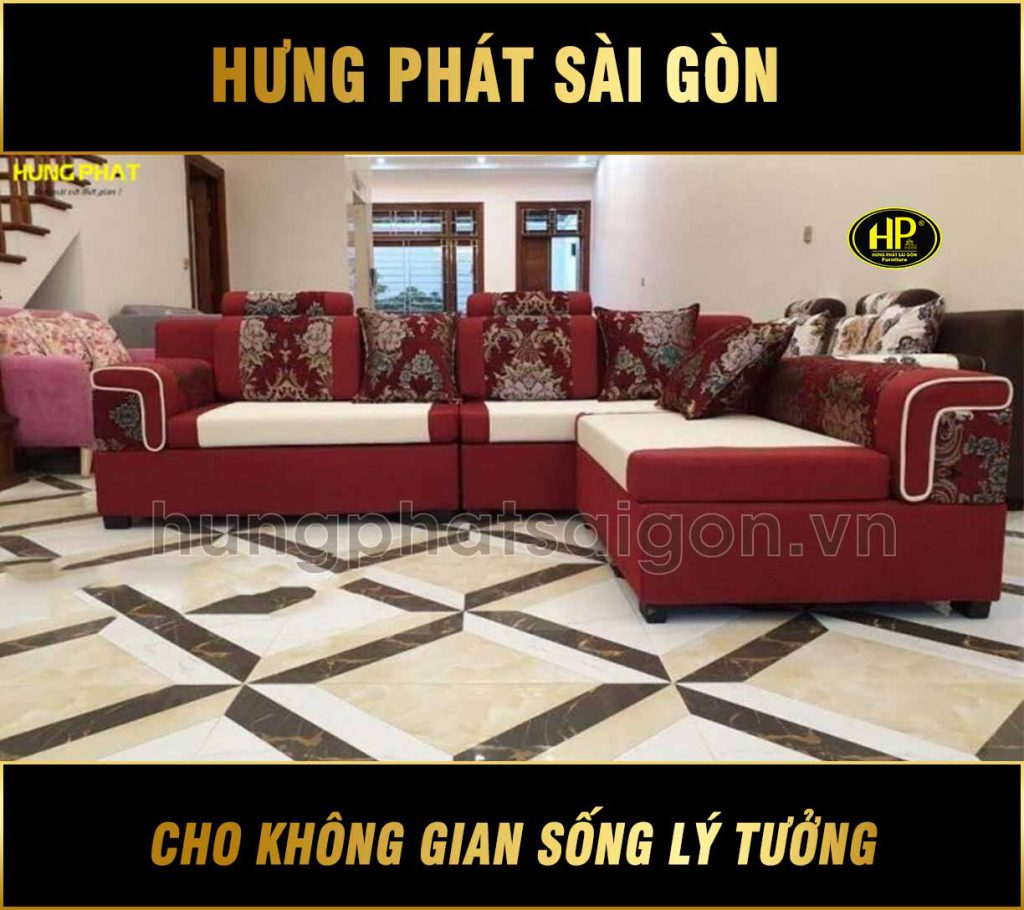 Sofa băng kết hợp góc tiện lợi H-519