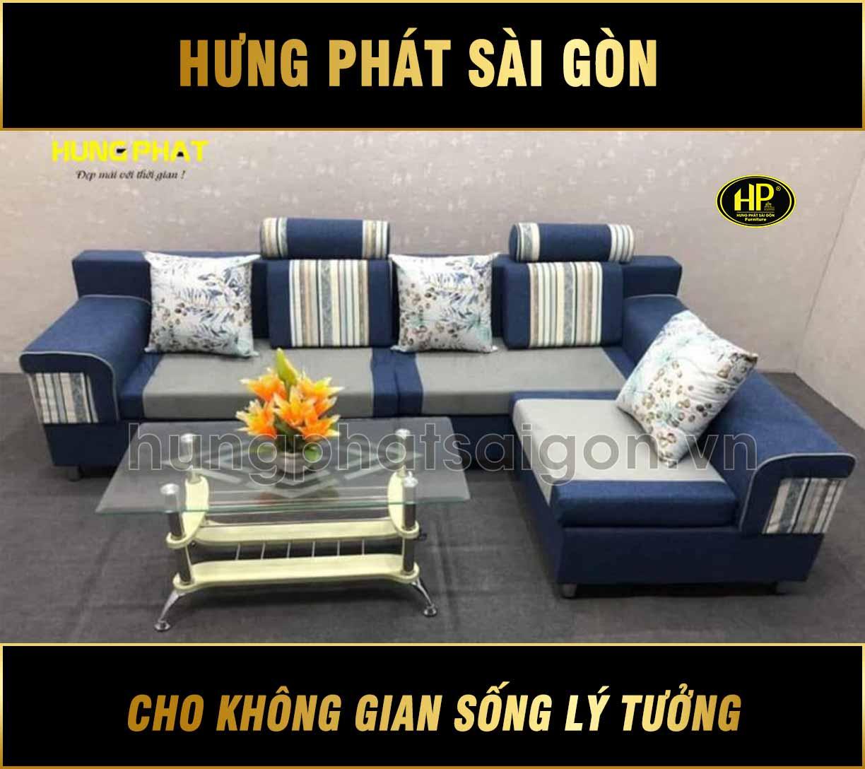 Sofa băng kết hợp góc tiện lợi H-512