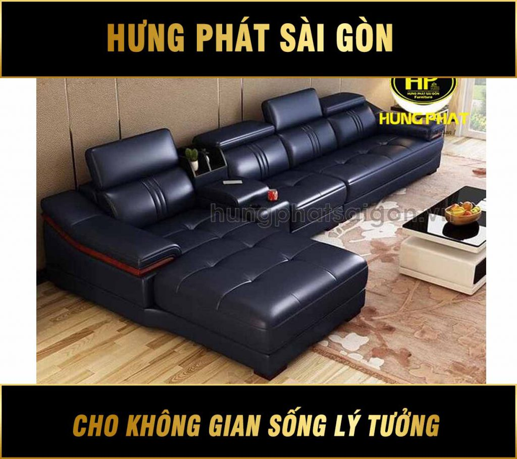 Sofa da xịn bền đẹp HD-30