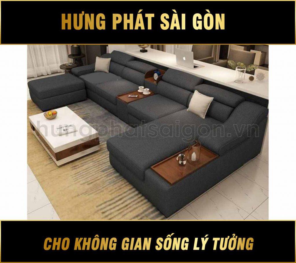 Sofa góc phòng khách hiện đại H-672