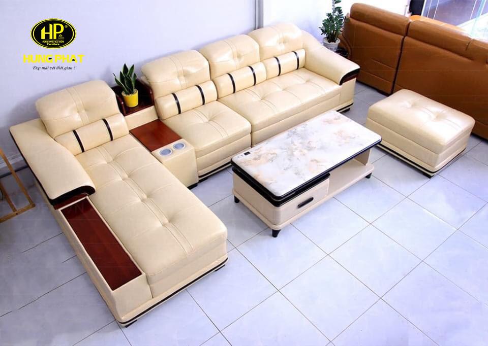 Sofa cao cấp chất liệu da