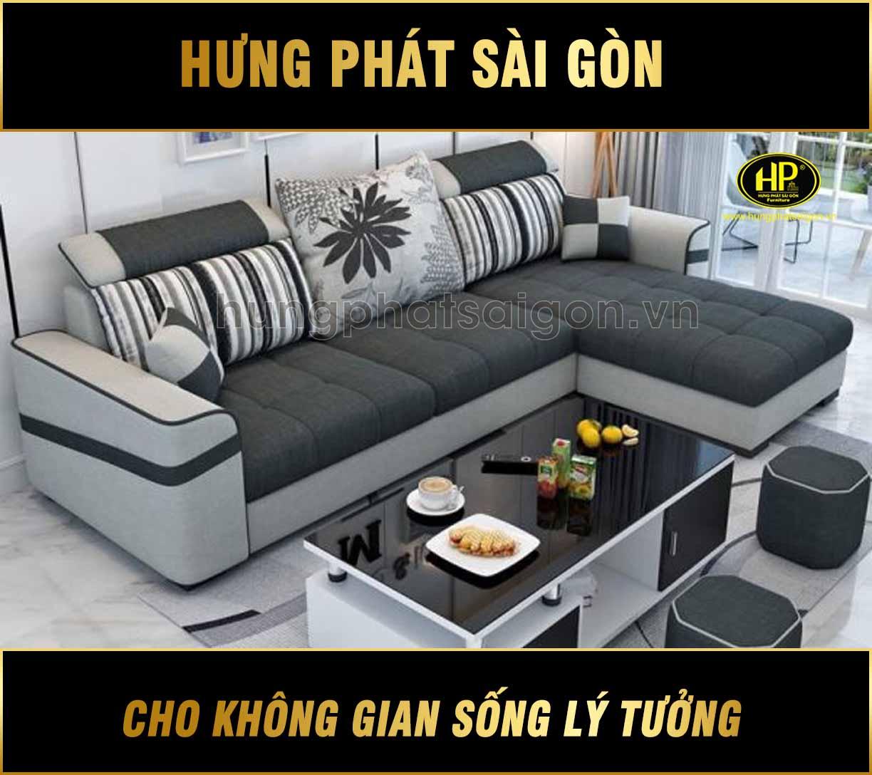 Sofa góc vải phối màu H-520