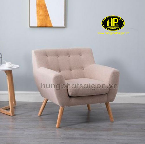 ghế sofa đơn màu kem nhỏ hiện đại sang trọng giá rẻ