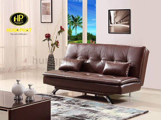 ghế sofa giường giá rẻ chất liệu da HG-35