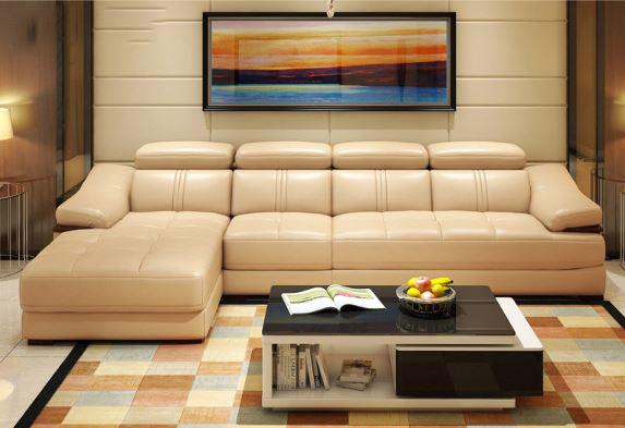 ghế sofa màu be hiện đại sang trọng
